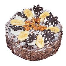 Muzlu çikolatali yas pasta 4 ile 6 kisilik   Muş uluslararası çiçek gönderme