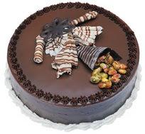 Çikolatali yas pasta 4 ile 6 kisilik  leziz  Muş çiçek mağazası , çiçekçi adresleri