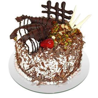 4 ile 6 kisilik çikolatali yas pasta  Muş kaliteli taze ve ucuz çiçekler