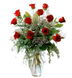 Vazo içerisinde 11 kirmizi gül  Muş çiçek siparişi vermek