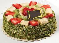 pasta gönder  4 ile 6 kisilik karisik meyvali yas pasta  Muş internetten çiçek siparişi