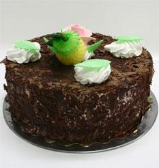 4 ile 6 kisilik yas pasta çikolatali leziz pastane ürünü  Muş cicekciler , cicek siparisi