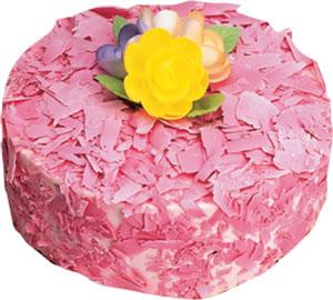 pasta siparisi 4 ile 6 kisilik framboazli yas pasta  Muş çiçek yolla