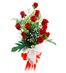 11 adet kirmizi güllerden görsel sölen buket  Muş çiçek siparişi vermek
