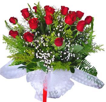 11 adet gösterisli kirmizi gül buketi  Muş internetten çiçek satışı