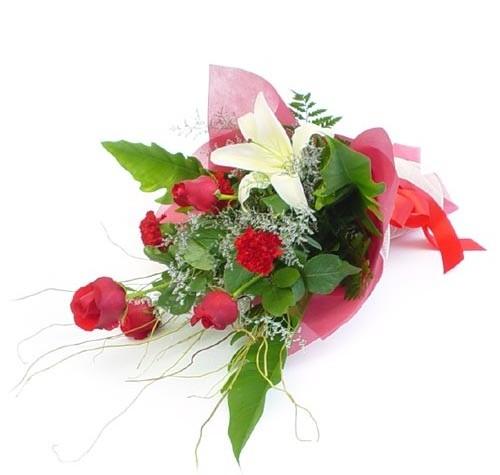 Mevsim çiçeklerinden karisik buket  Muş cicek , cicekci