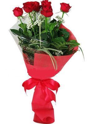 7 adet kirmizi gül buketi  Muş çiçek yolla , çiçek gönder , çiçekçi