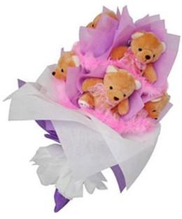 9 adet ayiciktan buket  Muş hediye sevgilime hediye çiçek