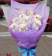 11 adet pelus ayicik buketi  Muş ucuz çiçek gönder