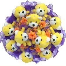 11 adet pelus ayicik buketi  Muş çiçek mağazası , çiçekçi adresleri