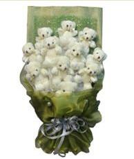 11 adet pelus ayicik buketi  Muş online çiçek gönderme sipariş