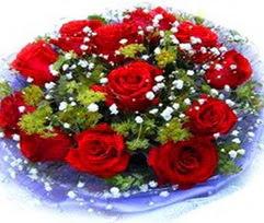 9 adet kirmizi güllerden buket  Muş çiçekçi telefonları