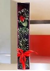 kutu içinde tek kirmizi gül  Muş çiçek online çiçek siparişi