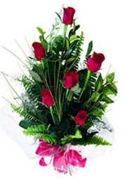 Muş güvenli kaliteli hızlı çiçek  5 adet kirmizi gül buketi hediye ürünü