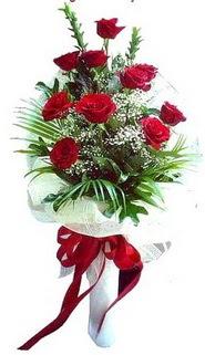 Muş ucuz çiçek gönder  10 adet kirmizi gül buketi demeti