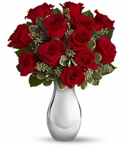 Muş çiçek siparişi vermek   vazo içerisinde 11 adet kırmızı gül tanzimi