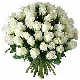 Muş çiçek servisi , çiçekçi adresleri  33 adet beyaz gül buketi