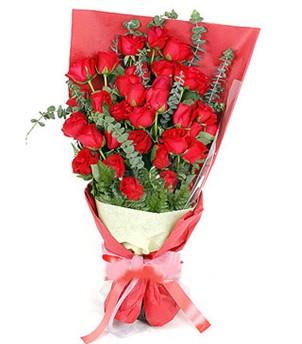 Muş çiçek gönderme  37 adet kırmızı güllerden buket