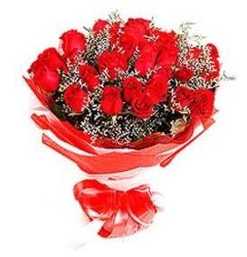 Muş çiçek mağazası , çiçekçi adresleri  12 adet kırmızı güllerden görsel buket