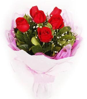 Muş hediye sevgilime hediye çiçek  kırmızı 6 adet gülden buket