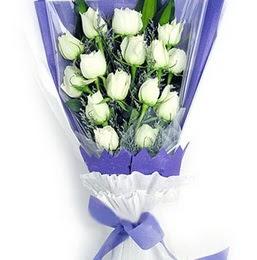 Muş çiçekçi mağazası  11 adet beyaz gül buket modeli