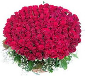 Muş online çiçekçi , çiçek siparişi  100 adet kırmızı gülden görsel buket