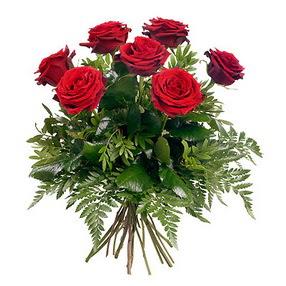 Muş online çiçek gönderme sipariş  7 adet kırmızı gülden buket