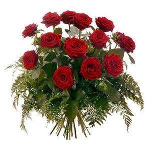 Muş internetten çiçek satışı  15 adet kırmızı gülden buket