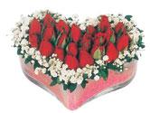 Muş çiçekçi telefonları  mika kalpte kirmizi güller 9
