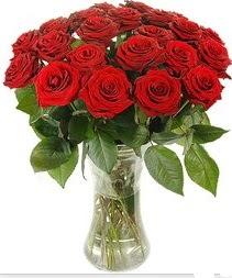 Muş çiçek mağazası , çiçekçi adresleri  Vazoda 15 adet kırmızı gül tanzimi