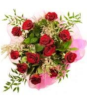12 adet kırmızı gül buketi  Muş 14 şubat sevgililer günü çiçek