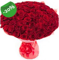 Özel mi Özel buket 101 adet kırmızı gül  Muş anneler günü çiçek yolla