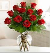 Vazo içerisinde 12 kırmızı gül  Muş çiçek satışı