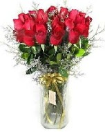 27 adet vazo içerisinde kırmızı gül  Muş İnternetten çiçek siparişi