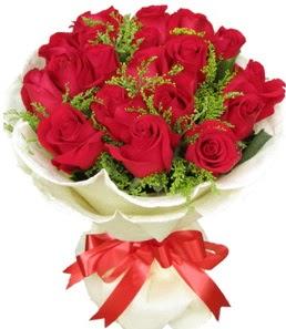 19 adet kırmızı gülden buket tanzimi  Muş çiçek servisi , çiçekçi adresleri