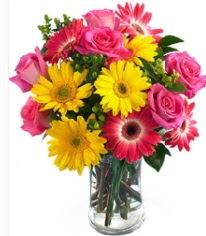 Vazoda Karışık mevsim çiçeği  Muş çiçekçi mağazası