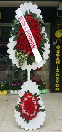 Çift katlı düğün nikah çiçeği modeli  Muş çiçek siparişi sitesi