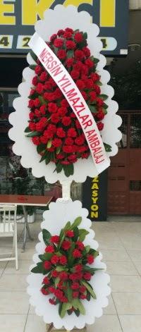 Çift katlı düğün nikah çiçeği modeli  Muş hediye çiçek yolla