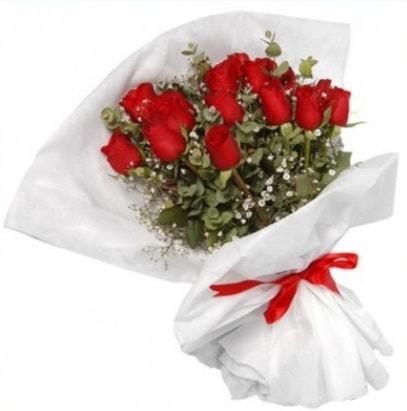 9 adet kırmızı gül buketi  Muş çiçekçi mağazası