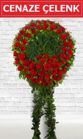 Kırmızı Çelenk Cenaze çiçeği  Muş İnternetten çiçek siparişi