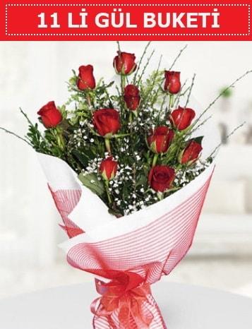 11 adet kırmızı gül buketi Aşk budur  Muş çiçek gönderme sitemiz güvenlidir