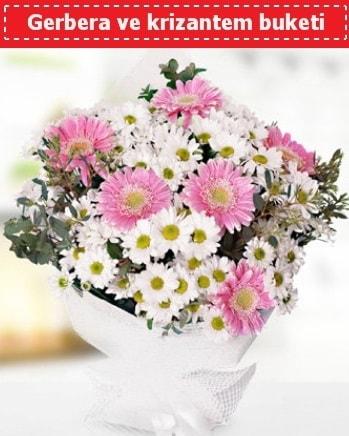 Papatya ve Gerbera Buketi  Muş çiçek , çiçekçi , çiçekçilik
