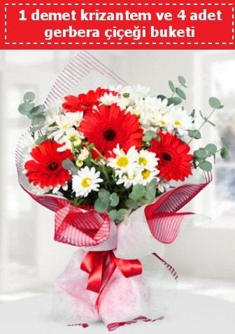 Krizantem ve Gerbera Buketi  Muş çiçek siparişi sitesi