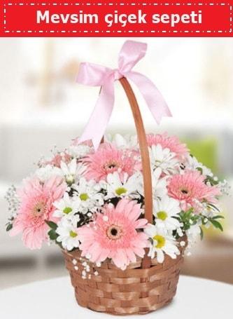 Mevsim kır çiçek sepeti  Muş çiçek , çiçekçi , çiçekçilik